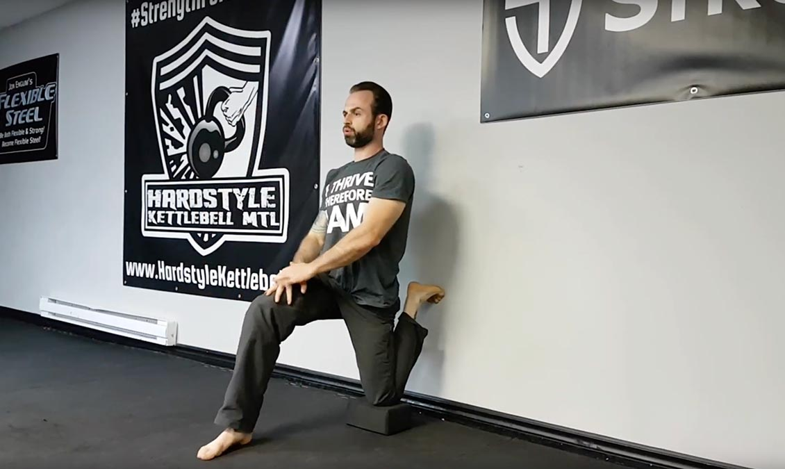Foot-Against the Wall Stretch/ Hip Flexor Stretch
