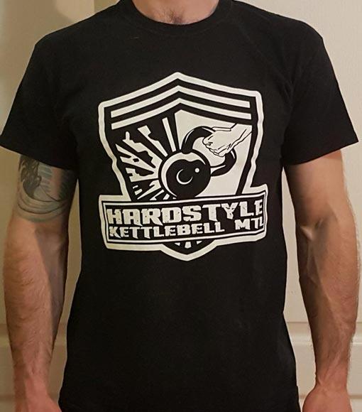 Black Hardstyle Kettlebell Logo T-Shirt (Round Neck)