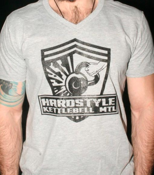 Hardstyle Kettlebell Logo T-Shirt (V-Neck)